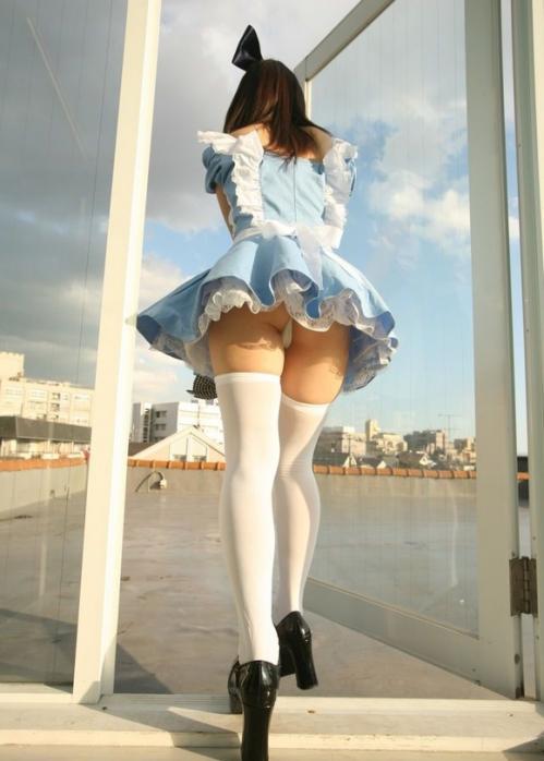 【三次】ニーソを履いた女の子のむらむらしてくる太もも画像part2・5枚目