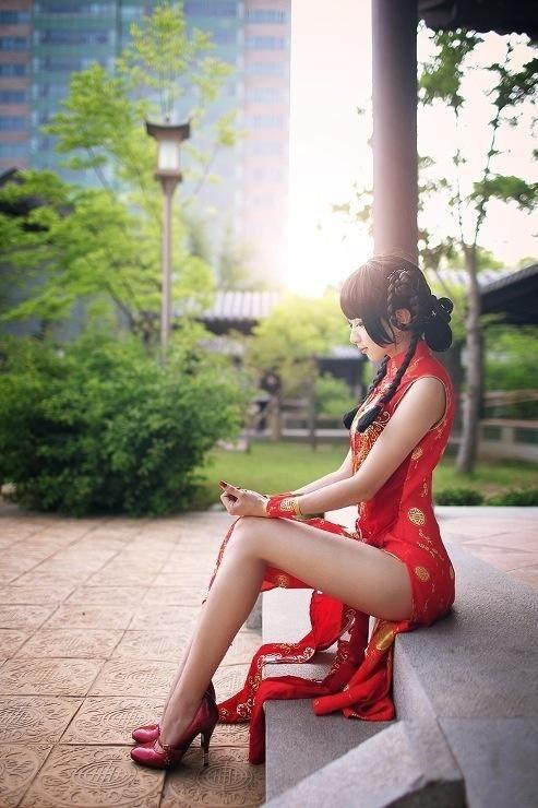 【三次】チャイナドレスを着た女の子のエロ画像・3枚目