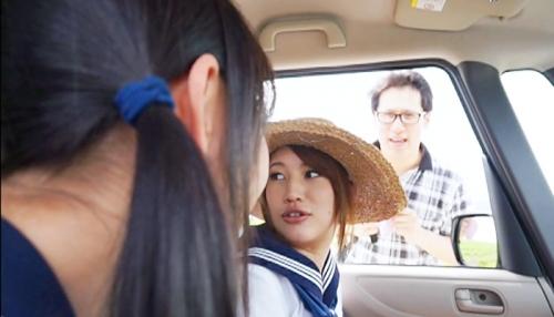【三次】北海道ですくすく育った18歳の巨乳JK二人組をヤリまくる!押しに弱いJKは青姦、好奇心旺盛なJKは拘束目隠しセックス、そして3Pで中出しエロ画像・3枚目